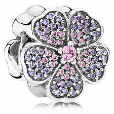 GENUINE AUTHENTIC PANDORA STERLING SILVER SPARKLING PRIMROSE CHARM 791481PCZ
