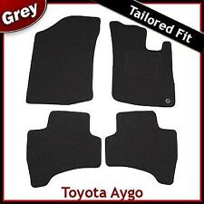 Toyota Aygo Mk1 2005-2014 1-eyelet Tailored Fitted Carpet Car Floor Mats GREY