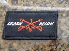ARMY PATCH,  5TH SQUADRON, 1ST CAVALRY,(RSTA),CRAZY RECON, WITH VELCR