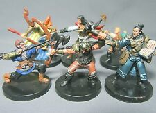 Dungeons & Dragons Miniatures Lot  Unique Player Character Party !!  s91