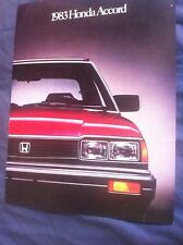 1983 Honda Accord USA Market Color Sales Brochure Catalog Prospekt