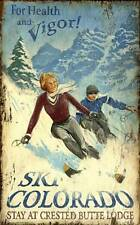 New! Ski Colorado by Red Horse Signs Fine Art Style Print Home Wall Decor 738738