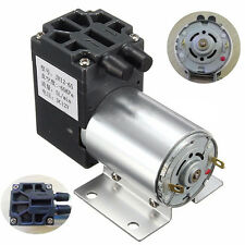 12V 6W Mini Vacuum Pump High Pressure Suction Diaphragm Pump with Holder 5L/min