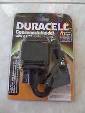 Duracell Car Cigarette Lighter Charger Gooseneck Holder With 2 USB Port 3 Amps