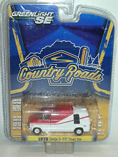 1/64 GREENLIGHT SE COUNTRY ROADS 1976 DODGE B-100 STREET VAN  WHITE & RED B11