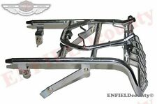 NEW ROYAL ENFIELD REAR LUGGAGE TOURING CARRIER + LIGHT GUARD CHROME @ ECspares