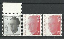 BELGIEN/ König Boudouin MiNr 2434 + 2x 2501 **