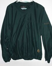 Footjoy Men's L Long Sleeve Golf V-Neck Windbreaker Pullover Jacket