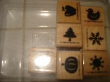 STAMPIN' UP! MINI MEDLEYS RUBBER STAMPS SET OF 7 EUC
