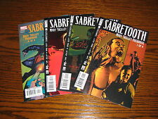 Marvel - SABRETOOTH Mary Shelley Overdrive 1 - 4 Complete Set!!  2002  VF+