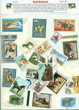 Horses (25Different Large)-STAMP PACKET