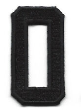 "NUMBERS - Black Number ""0"" (1 7/8"") - Iron On Embroidered Applique/Numbers"