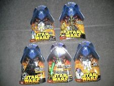 Star Wars Lot of 5 different Hasbro Action Figures 7 11 18 26 48 All MOC Group