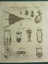 1797 georgiano impresión ~ Fuelle Para Inflar pulmones respiración antiguos neumáticos