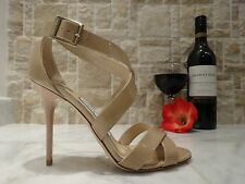 Jimmy Choo 'Lottie' Patent Leather Sandal Nude US-7M EU-37M MSRP $695