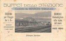 3241) FALCONARA MARITTIMA (PESARO) BUFFET DELLA STAZIONE VIAGGIATA NEL1920.