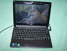 "Black Acer Aspire One 531h ZG8 10.1"" LCD 2GB RAM 160GB HDD Win7 WiFi Webcam COA"