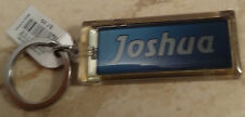 "Acrylic Blinking Solar Powered ""Joshua"" Keychain Key Chain 2.6"" Long with Ring"