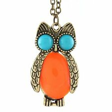 GirlZ! Fashion Vintage Cute Owl Necklace Collar Pendant With Chain
