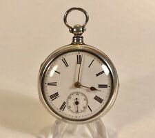 1865 Chester Solid Silver Pair Case Fusee Pocket Watch For Repair.