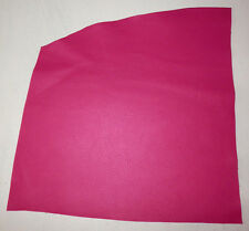 """Fuchsia / Hot Pink Cowhide Leather Scraps 13""""x16"""" avg 1.2mm thick #5909"""