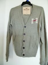 Men's HOLLISTER ABERCROMBIE Vintage 1922 Cardigan Knit Jacket Sweater Size L