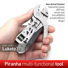 Piranha Survival Pocket Multi Tool Wrench Jaw Screwdriver Pliers Knife Hand Tool