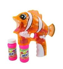 New Arrival Light up Fish Bubble Gun Light with 2 Bottles of Bubbles