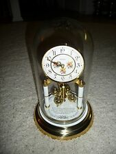 "Rare Angelus Vintage 12"" Tall Dome Anniversary Clock w/ Wedding Inscription"