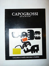 Arte Pittura Catalogo - Capogrossi opere 1951 1972 Galleria Niccoli Parma 1986