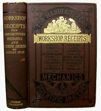 1885 FIREWORKS EXPLOSIVES PHOTOGRAPHY SOAP CANDLE JEWELRY MAKING RECIPES BOOK