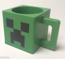 Minecraft Plastic Creeper Face 8oz Green Mug BPA Free NEW IN BOX