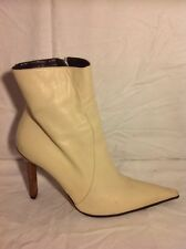 Steve Morris Cream Ankle Leather Boots Size 39