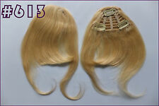 3Clips Long Clip in 100%Real Remy Human Hair Extension Fringe/Bangs Mix Colors