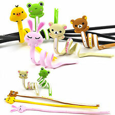 Cute Animal Earphone Headphone Wrap Cord Wire Cable Holder Winder Organizer 1pcs