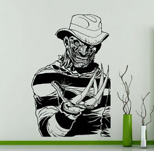 Freddy Krueger Wall Decal Vinyl Sticker Horror Movie Home Art Decor Murals 237su