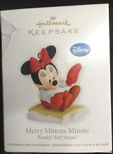 NIB 2012 HALLMARK KEEPSAKE ORNAMENT MERRY MITTENS MINNIE DISNEY READY SET SNOW