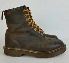 Dr Martens Vtg 1460 Brown Leather Boots 8 Eye Made in England UK 4 Womens 6