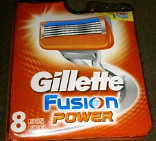 New Genuine 8 Pack Gillette Fusion Power Razor Blades Cartridges Sealed