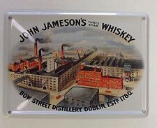 John Jameson's Whiskey Distillery miniature metal sign / postcard   (hi)
