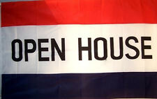 2 OPEN HOUSE 3 X 5 FLAGS advertising real estate banner 3x5 flag sign hanging