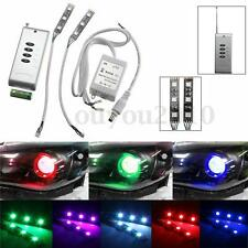 Demon Eye RGB 3 SMD 5050 LED + Wireless Remote Car Headlight Projector Retrofit