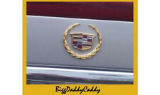 NEW Cadillac 00 01 02 03 04 05 DEVILLE REAR GOLD TRUNK EMBLEM WREATH & CREST