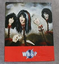 W.A.S.P. 1986 Blackie Lawless Mike Duda Dupke Doug Blair Funky Music Poster GVG