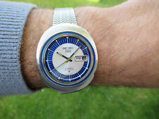 SPARES OR REPAIR SEIKO UFO CASE 21J AUTOMATIC AUGUST 1971 METALLIC BLUE & SILVER