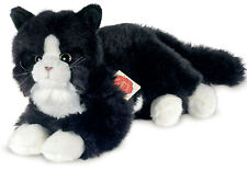 Black & white cat / kitten soft toy by Teddy Hermann Original - 90679 - 25cm