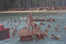 538099 boat people vietnamiti isola dell' aria RAYA mar Cinese Meridionale A4 FOTO STAMPA