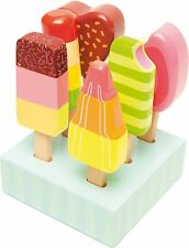 Le Toy Van HONEYBAKE ICE LOLLIES Wooden Cafe Ice Cream Play Food Set Kids BN