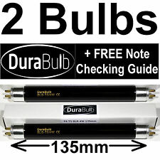 2 x F4 T5 BLB 4W UV Bank Note Checker Bulb Fake Money Detector Ultraviolet Tube
