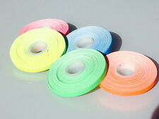 "5 Roll Pack UV Neon Gaffers Hoop Tape 1/4"" 15 ft Rolls ALL Neon Colors Hula"